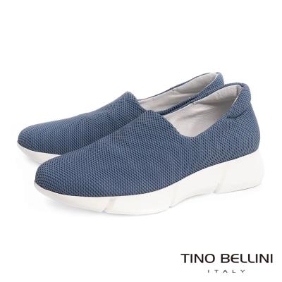 Tino Bellini 時尚休閒風網眼厚底休閒鞋_藍
