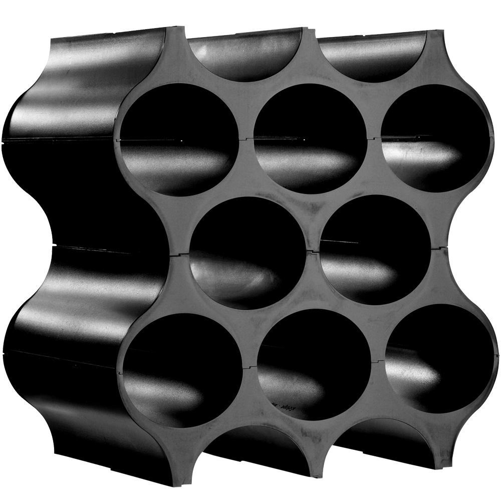 KOZIOL Setup自組式蜂巢酒架(黑)