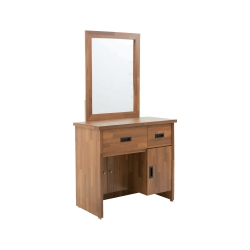 LOHA-Original原創雙色-工業立鏡化妝台(含椅)寬81x深40.5x高153cm