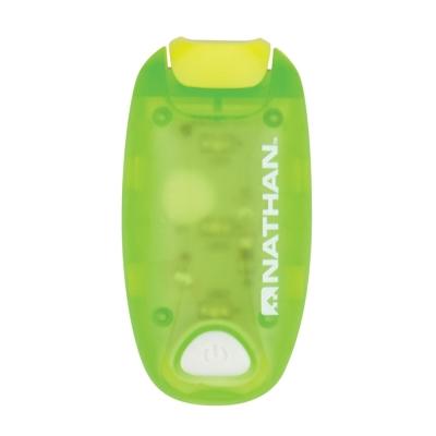 NATHAN StrobeLight 防水LED炫光夾 綠