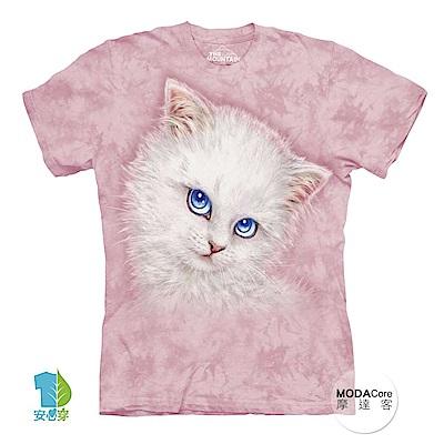 摩達客 美國The Mountain 藍眼貓咪 喵嗚 短袖女版T恤