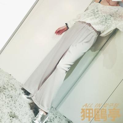彈性腰圍柔棉休閒褲 (共二色)-ALL IN 狎鷗亭