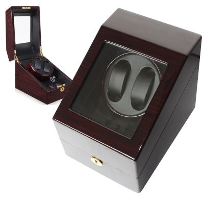 PARNIS BOX 自動上鍊盒2+3 日本馬達 拿鐵咖鋼琴烤漆 收藏錶盒 自動03-EB
