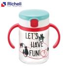 日本利其爾 Richell 幼兒學習水杯200ML-貓物語