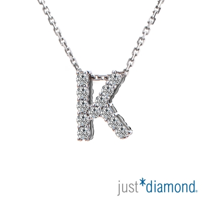 Just Diamond Love Words系列18K金鑽石墜子-K