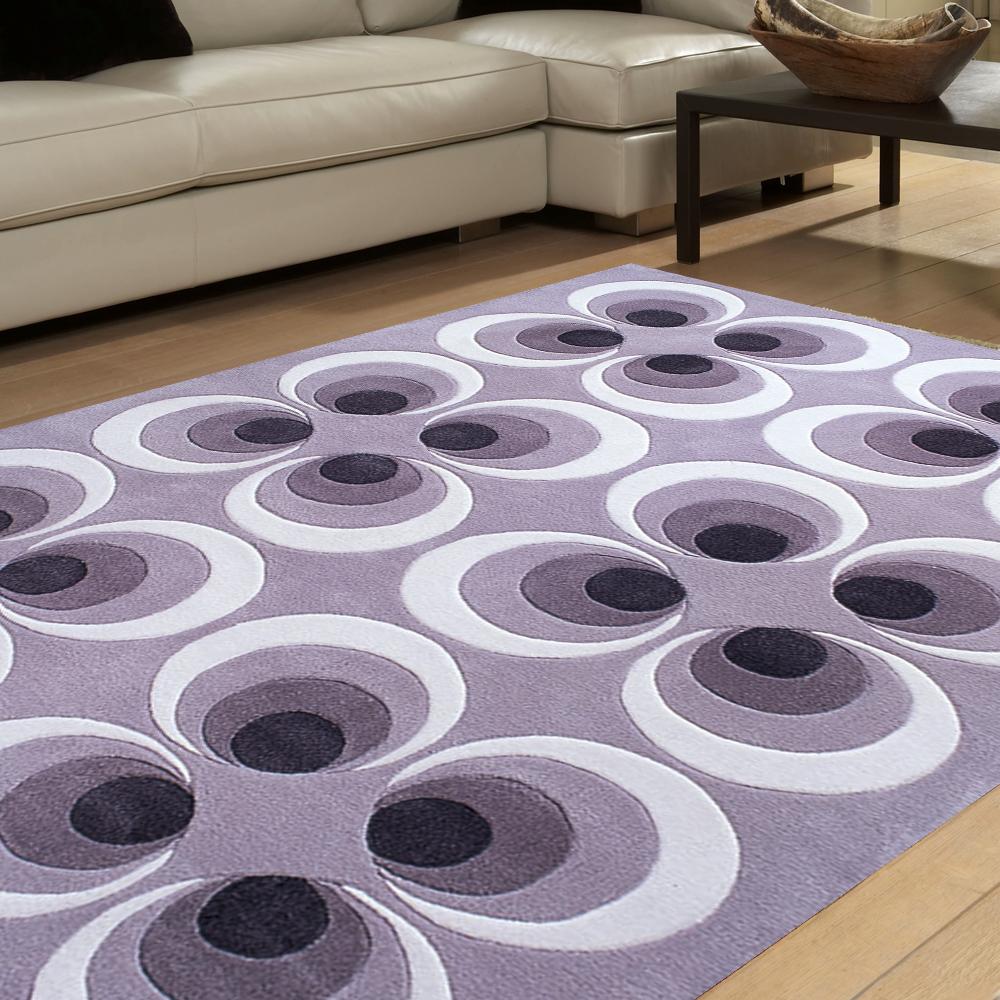 范登伯格 - 戰比壓克力紗地毯系列 - 紫蝶輪舞 (200x290cm)