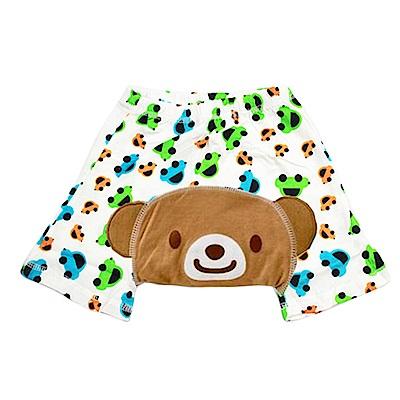 可愛動物水果造型 純棉五分短褲-三件入