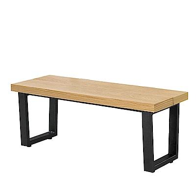 H&D 木紋休閒長條椅 (寬120X深40.5X高46cm)