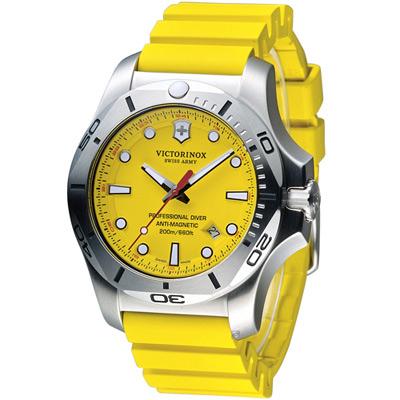 Victorinox 維氏 I.N.O.X. Diver 潛水錶-黃/45mm
