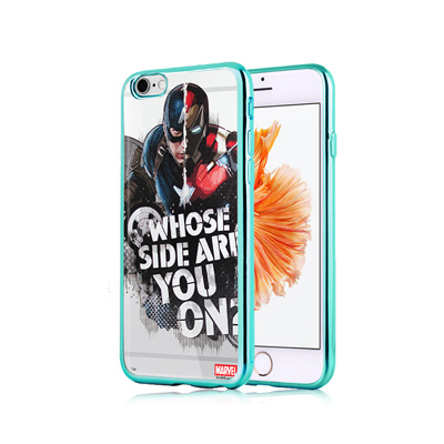 漫威正版 iPhone 6S 4.7吋 美國隊長3 彩繪電鍍手機殼(英雄內戰)
