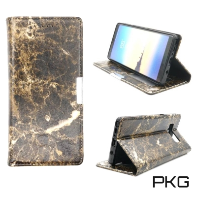 PKG SAMSUNG Note8  側翻式大理石時尚紋路皮套