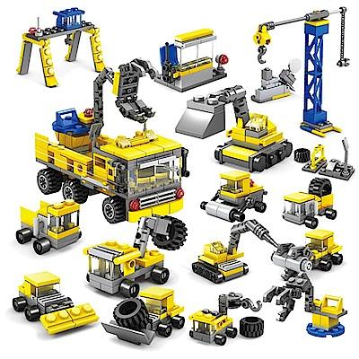 城市系列-16合一 城市工程  新款積木 (兒童益智拼裝早教玩具)