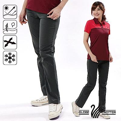 【遊遍天下】女款涼爽彈性顯瘦吸排抗UV長褲GP10001深灰