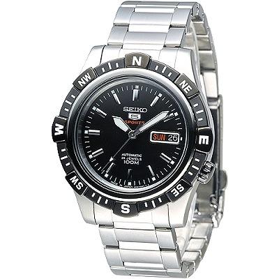 SEIKO 巨匠5號盾牌24石機械腕錶(SRP139J1)-IP黑框/41mm
