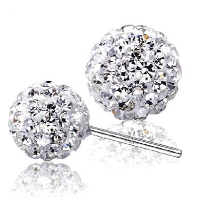梨花HaNA 熱賣系列925銀單顆水鑽球球簡約耳環