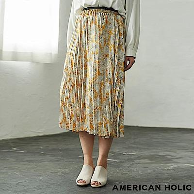 AMERICAN HOLIC 滿版碎花柄百褶中長裙