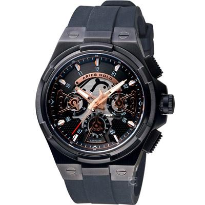 Aries Gold雅力士 團結系列急速閃電腕錶-鍍黑/50mm