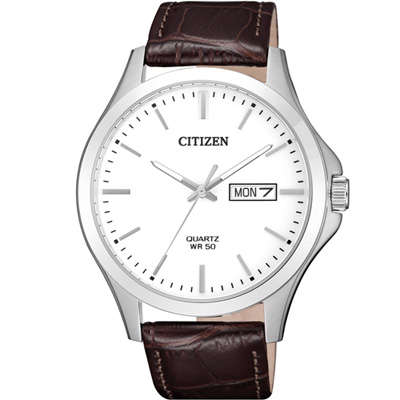 CITIZEN星辰極簡主義時尚腕錶(BF2001-12A)-41mm