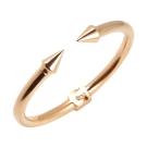 VITA FEDE義大利品牌 鉚釘玫瑰金色C式粗手環手鍊