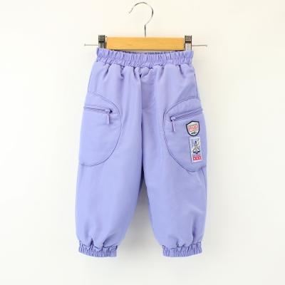 愛的世界 MYBABY 防風舖棉造型口袋長褲 1~4歲
