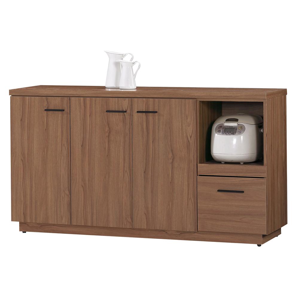 愛比家具 堤比5尺柚木色餐櫃下座