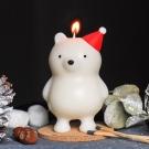 COZU 耶誕暖暖熊造型蠟燭