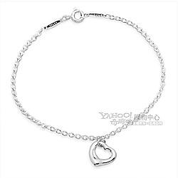 Tiffany&Co. Open Heart 愛心墜飾純銀手鍊