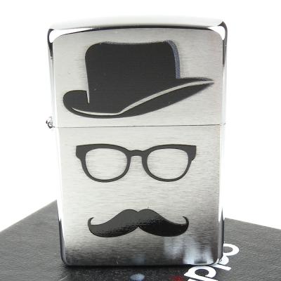 【ZIPPO】美系~Moustache And Hat-翹鬍子與帽子膠印加工打火機