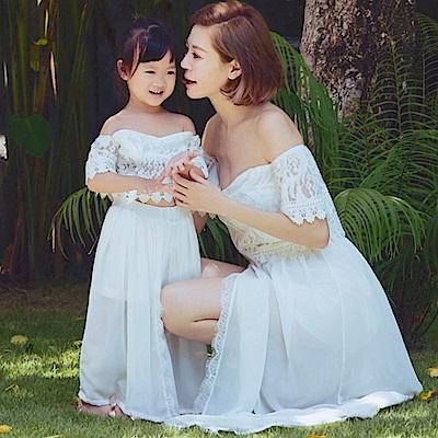 AIR SPACE CHIAO聯名蕾絲平口套裝(童裝)(白)