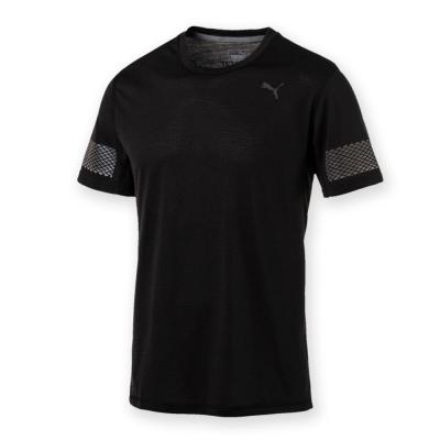 PUMA-男性慢跑系列NightCat短袖T恤-黑色-歐規