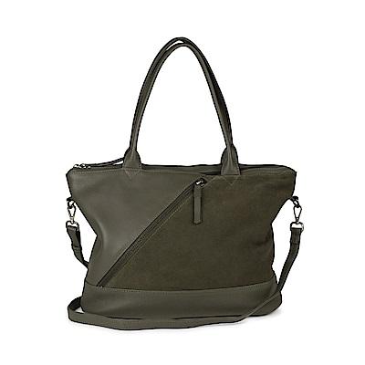 MARKBERG Zola 丹麥手工牛皮個性斜鍊托特包 斜背包/手提包(個性絨綠)