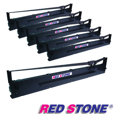 RED STONE for EPSON S015336/LQ2090黑色色帶組(1組6入)