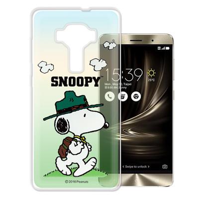 史努比 華碩 ZenFone3 Deluxe 5.7吋 ZS570KL 漸層手機殼(郊遊)