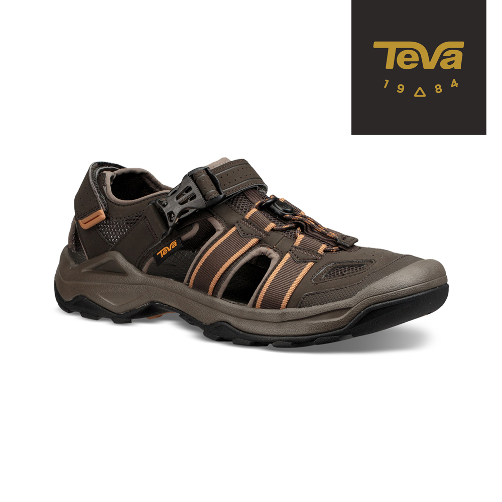 【TEVA】原廠貨 男 Omnium 2 護趾水陸機能涼鞋/雨鞋/水鞋(橄欖綠-TV1019180BLKO)