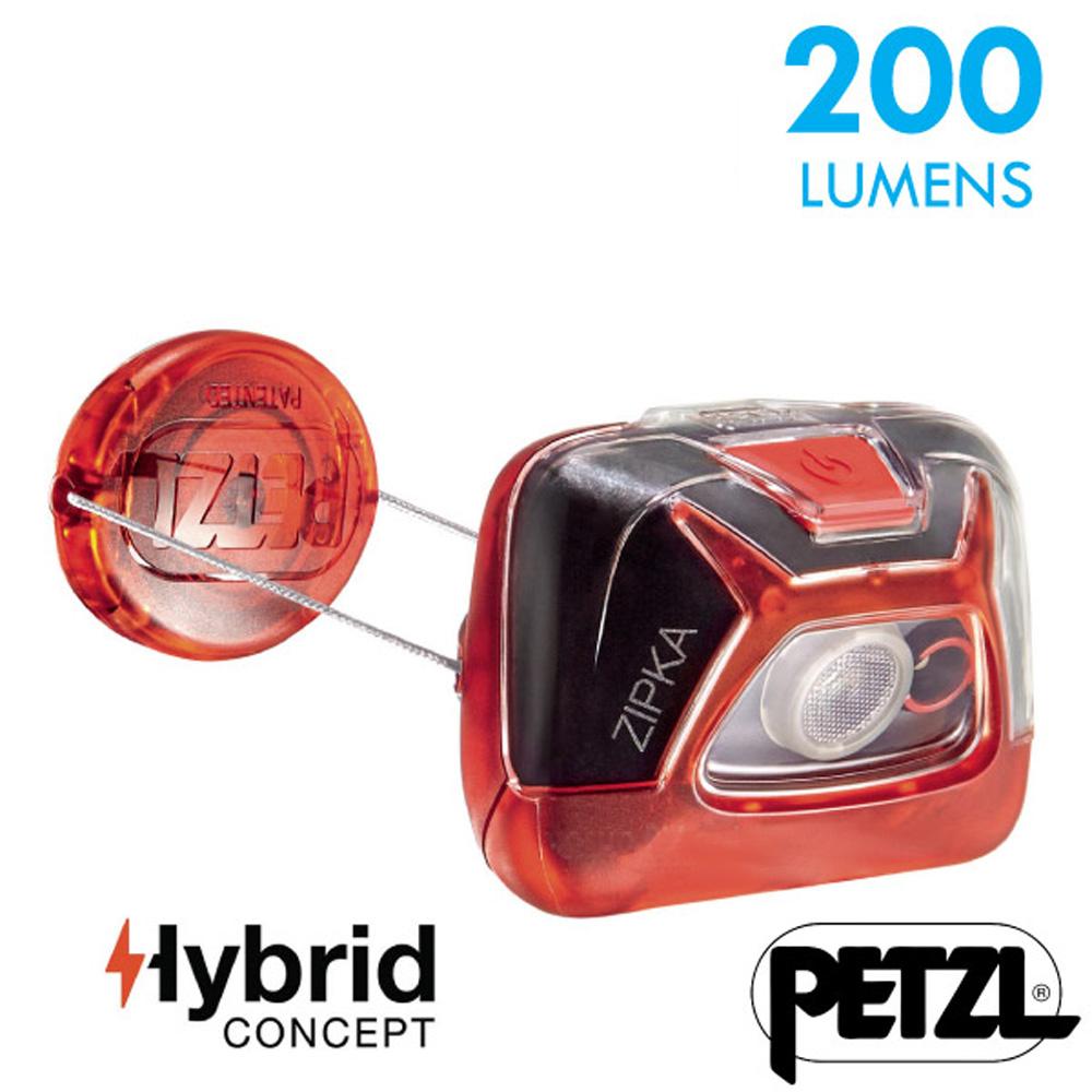 【法國 Petzl】新款 ZIPKA 超輕量緊湊型頭燈(200流明)_紅