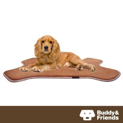 【Buddy&Friends】寵物骨頭造型墊 淺咖啡M (61x91cm)