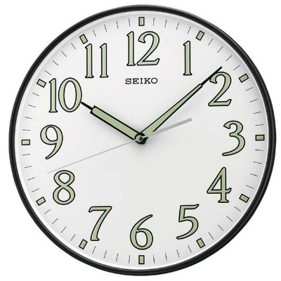 SEIKO 精工 滑動式秒針 靜音掛鐘(QXA521K)-白/29.5cm