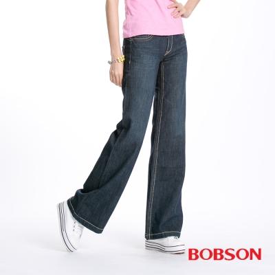 BOBSON 女款BAGGY大喇叭褲