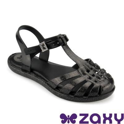 Zaxy 巴西 女童 DREAM SANDAL復古摩登涼鞋(黑)