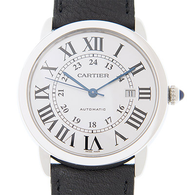 CARTIER RONDE SOLO WSRN0022經典大型機械皮帶腕錶x42mm