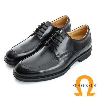 GEORGE 喬治-避震系列 經典素面圓楦紳士鞋皮鞋(男)-黑色