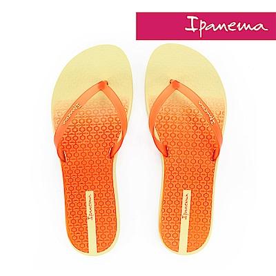 IPANEMA 繽紛渲染夾腳拖鞋-黃色橘色