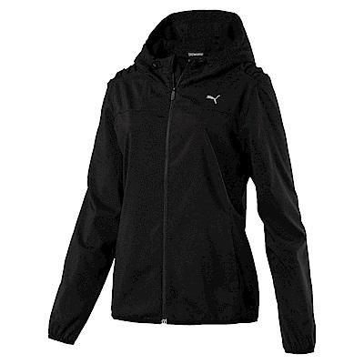PUMA-女性訓練系列素面風衣外套-黑色-亞規