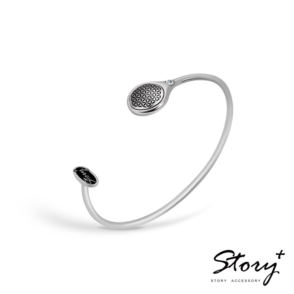 STORY故事銀飾-脈輪系列-生命之花Flower of Life純銀手環
