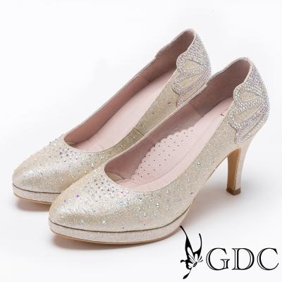 GDC-滿鑽高貴奢華水台跟鞋(婚鞋)-金色