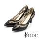 GDC-真皮格紋鉚釘透膚高跟鞋-黑色 product thumbnail 1