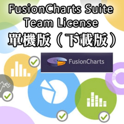 FusionCharts Suite Team License 單機版 (下載版)