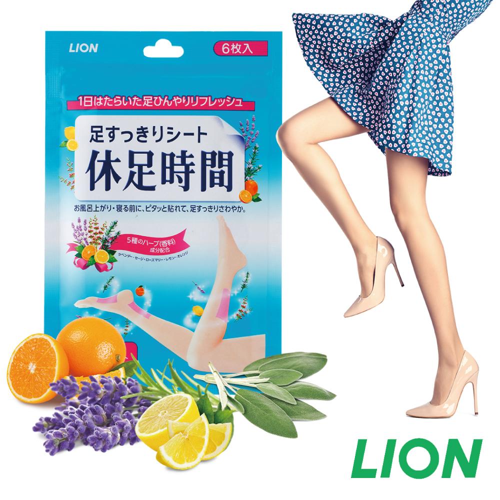 日本LION 休足時間足部清涼舒緩貼片6枚入(原廠正貨)
