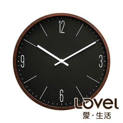 LOVEL 30cm 木紋膠框時鐘-共2款