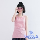 betty's貝蒂思 繞頸綁帶細肩帶細條紋背心(條紋紅)